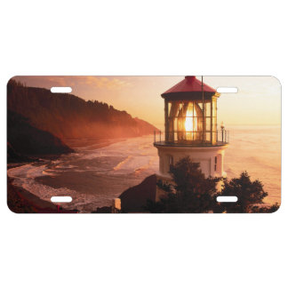 The Lighthouse View License Plate