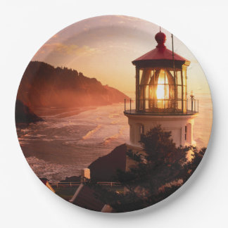 The Lighthouse View Paper Plate