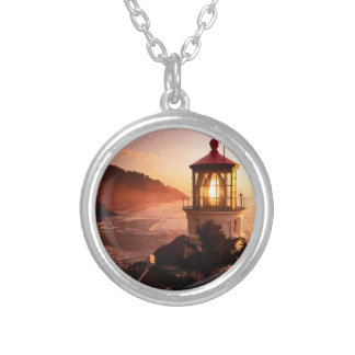 The Lighthouse View Silver Plated Necklace