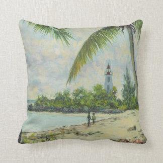 The Lighthouse Zanzibar 1995 Throw Pillow