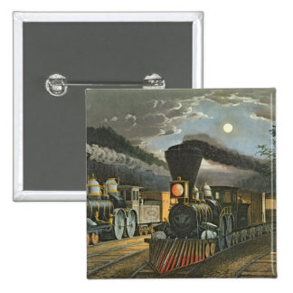 The Lightning Express Trains, 1863 2 Inch Square Button
