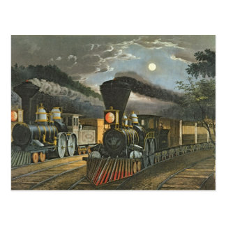 The Lightning Express Trains, 1863 Postcard