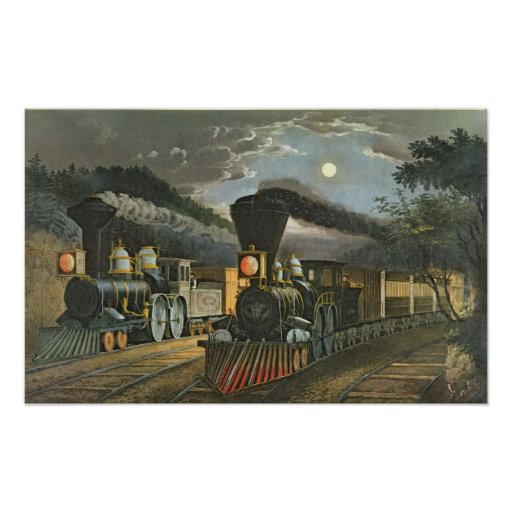 The Lightning Express Trains, 1863 Poster