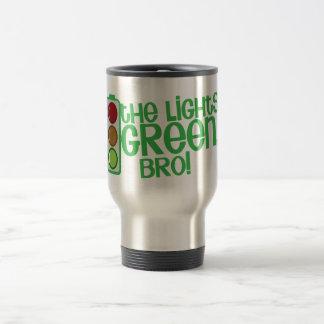 The lights GREEN Bro! Kiwi New Zealand funny 15 Oz Stainless Steel Travel Mug
