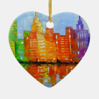 The lights metropolis, ceramic ornament