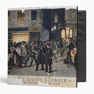 'The Lights O' London' (colour litho) 3 Ring Binder