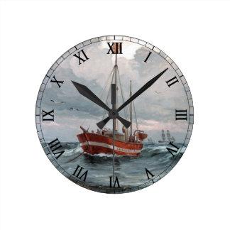 The lightship at Skagen Reef Personalize Round Clock