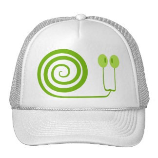 """The likeable snail with spiral, """"Face of Cabbage """" Trucker Hat"""