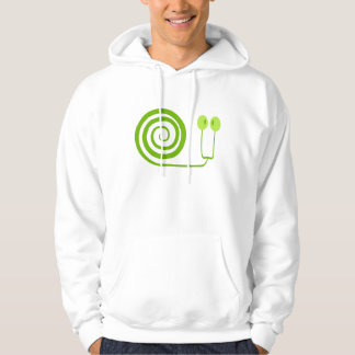"The likeable snail with spiral, ""Face of Cabbage "" Hoodie"