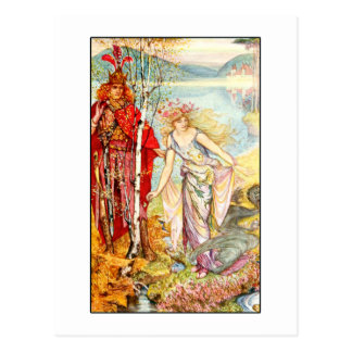 The Lilac Fairy Book -The King of the Waterfalls Postcard