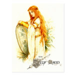 The Lily Maid with Lancelot's Shield Postcard