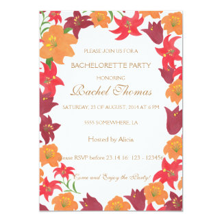 The Lily Pattern Bachelorette Party Invitation