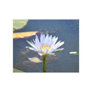 """The Lily Pond."" (14"" x 11"" x 1.5"") Canvas Print"