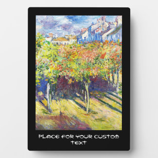 The Limes at Poissy Claude Monet cool, old, master Plaque