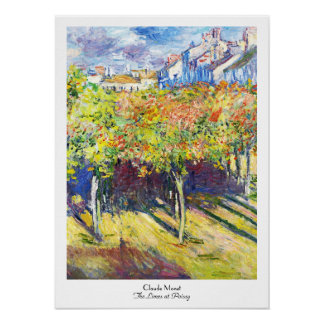 The Limes at Poissy Claude Monet cool, old, master Poster