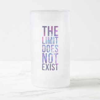 The limit does not exist. frosted glass beer mug