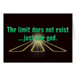 The Limit Does Not Exist.. Just Like God Cards