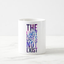 nebula, limit, quote, inspire, space, galaxy, quotation, motivational, the limit does not exist, mug, art, cool, quotations, pink, blue, glitter, universe, abstract, motivation, Caneca com design gráfico personalizado