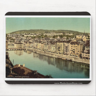 The Limmatquay, with Polytechnic, Zurich, Switzerl Mouse Pad