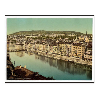 The Limmatquay with Polytechnic Zurich Switzerl Post Card