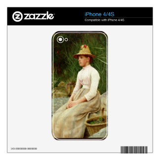 The Limpet Gatherer (oil on canvas) Decal For The iPhone 4