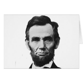 the Lincoln abraham Greeting Card