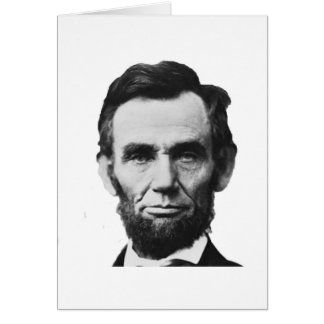 the Lincoln abraham Greeting Cards
