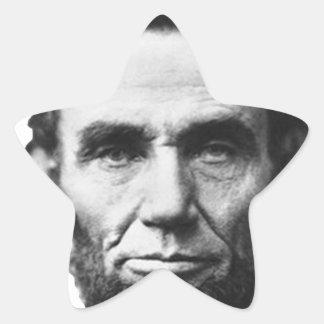 the Lincoln abraham Star Sticker