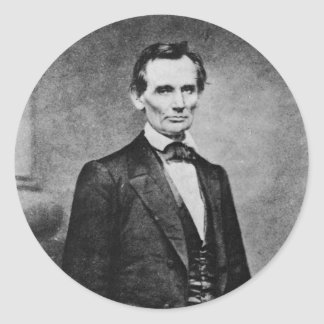 The Lincoln Cooper Union Portrait ~ 1860 Classic Round Sticker