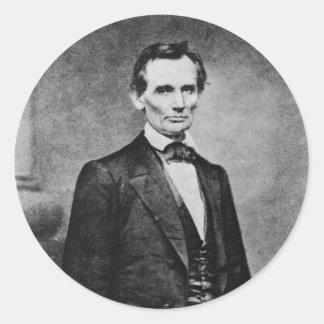 The Lincoln Cooper Union Portrait ~ 1860 Round Stickers