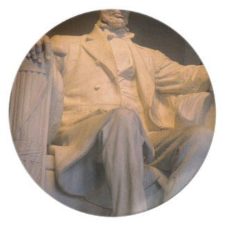 The Lincoln Memorial in Washington DC. Party Plates