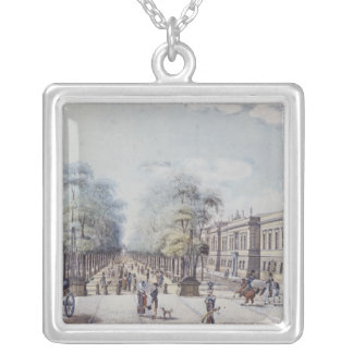 The Linden with the Academy, Berlin Silver Plated Necklace