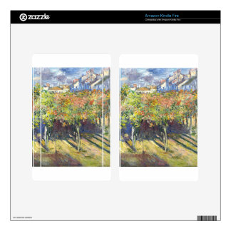 The Lindens of Poissy by Claude Monet Decals For Kindle Fire