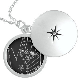 THE LINE OF LIFE - HAND ROUND LOCKET NECKLACE