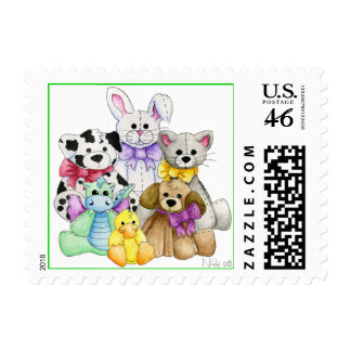 The Line Up Postage Stamp