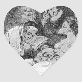 The lineage by Francisco Goya Heart Sticker