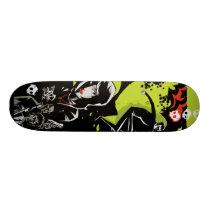 artsprojekt, the linear moon skate deck, jim, mahfood, food, one, 40oz, comics, clerks, grrl scouts, colt 45, stupid, page, filler, man, live art, live, art, z-trip, murs, felt, true, tales, underground, hip, hop, sarah, silverman, program, frenchpulp, mahf, earthworms, comic, books., jim mahfood, jim mahfood skateboards, food one skateboards, 40 oz comics skateboards, food one, 40 oz comics, Skateboard com design gráfico personalizado