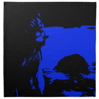 The Lion 1 Blue Cloth Napkin