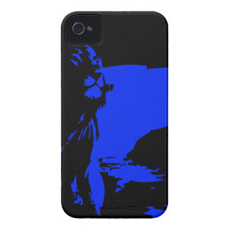 The Lion 1 Blue iPhone 4 Cover
