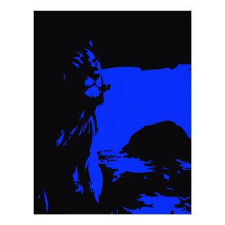 The Lion 1 Blue Letterhead
