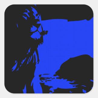 The Lion 1 Blue Square Sticker