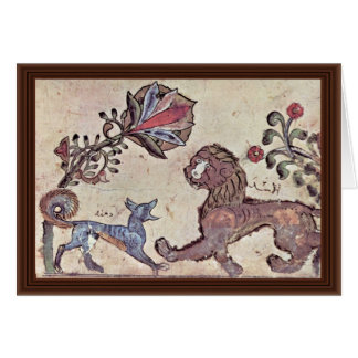 The Lion And The Jackal Dimna By Syrischer Maler U Greeting Card