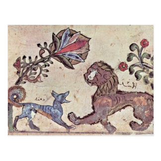 The Lion And The Jackal Dimna By Syrischer Maler U Postcards