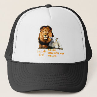 The Lion and the Lamb Isaiah 11:6 Trucker Hat
