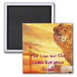 The Lion and the Lamb Magnets