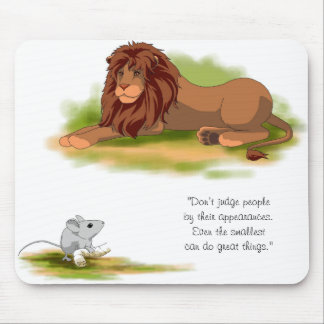 The Lion and the Mouse Mouse Pad