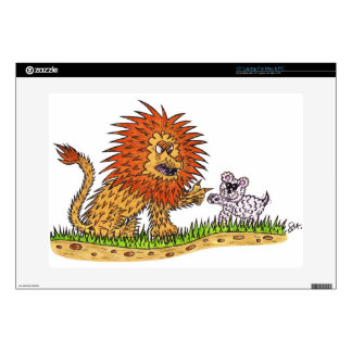 """The Lion and the Puppy 15"""" Laptop Decals"""