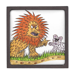 The Lion and the Puppy Keepsake Box