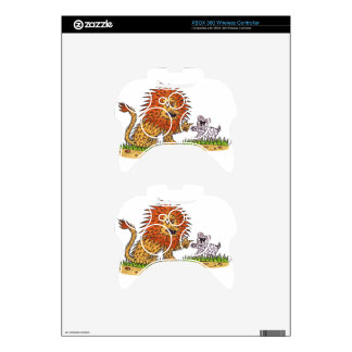 The Lion and the Puppy Xbox 360 Controller Skin