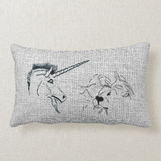 The Lion and the Unicorn Throw Pillows